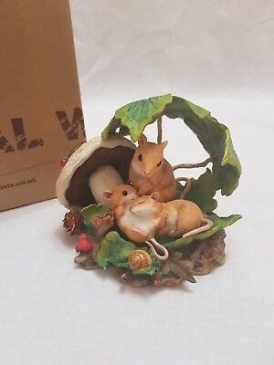 Country Artists- Natural World- Field Mice With Babies Figurine