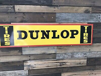 Antique Vintage Old Style Dunlop Tires Service Station Sign