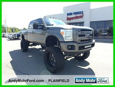 2012 Ford F-250 Lariat Used 12 Ford F250 Lariat Used Turbo 6.7L V8 4x4 Pickup Work Lifted Truck Gray
