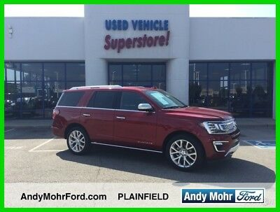 2018 Ford Expedition Platinum Used 18 Ford Platinum Turbo 3.5L V6 Auto 4x4 SUV Premium Red Black Leather