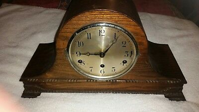Old wooden mantel clock for parts
