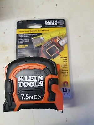 Klein tools 7.5m double sided magnetic tape measure