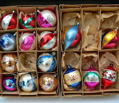 Lot of 16 Antique Vtg Mercury Glass Christmas Ornaments Teardrop Ball Poland