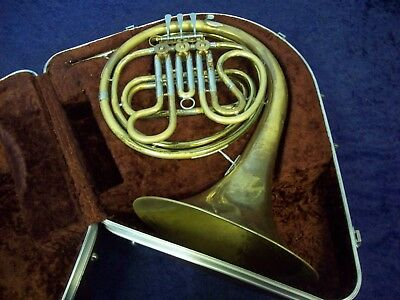 Solid Quality!  Ambassador Made By F.e. Olds French Horn Fullerton Ca Usa + Case