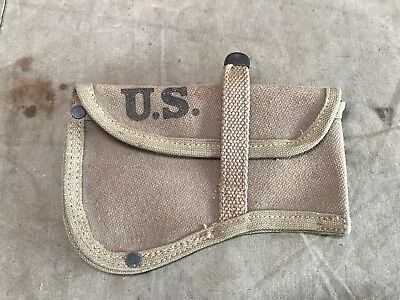 1X Original Wwii Us Army M1942 Axe Hatchet Carrier Cover-Od#3
