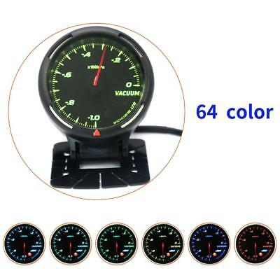 Digital 12V Racing 64 Colors 270° Car 100kPa Vacuum Gauge Scale Meter + Sensor