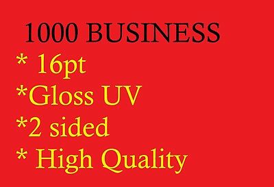 1000 FULL COLOR BUSINESS CARDS GLOSS UV With Artwork Print Ready