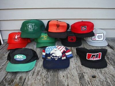 Lot Of 10 Vintage Snapback Trucker Style Farm Seed John Deere Mesh Patch Hats