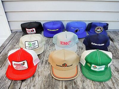 Lot Of 10 Vintage Snapback Trucker Style Hat Hats Farm Seed Mesh Patch Neat 5