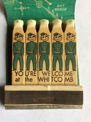 Vtg Feature Matchbook The Whitcomb Motor Hotel Civic Center San Francisco CA.