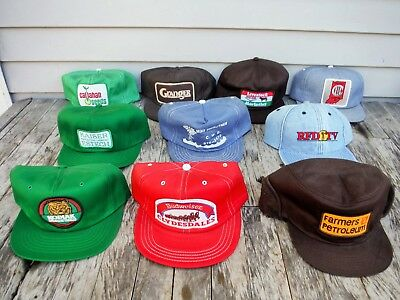 Lot Of 10 Vintage Snapback Trucker Style Hat Hats Farm Winter Seed Patch Hats