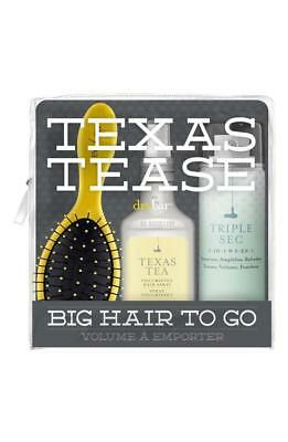 DRYBAR TEXAS TEASE BIG HAIR TO GO 3 PIECE SET Triple Sec, Texas Tea, Lemon Drop