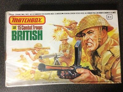 Matchbox British 15 Combat Troops 1:32 P6002 STILL SEALED BOX MINT