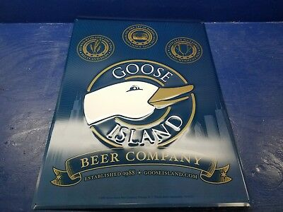 Goose Island Beer Company Logo Metal Beer Sign MIB 24 x 18 inch  Bar room decor