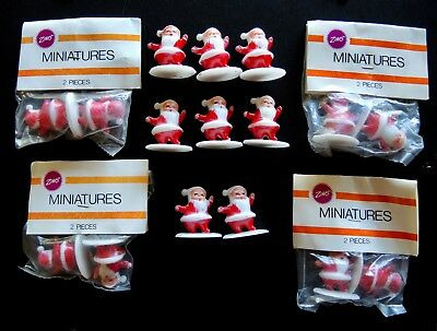 Lot of 16 Vintage Miniature Santa Figurines Party Cake Topper Crafts