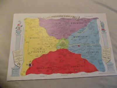"Wizard Of OZ The Marvelous Land of OZ Map  11"" X 17"""