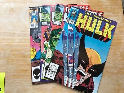 Marvel Lot THE INCREDIBLE HULK Copper #340 #315 #314 & #332 MINT