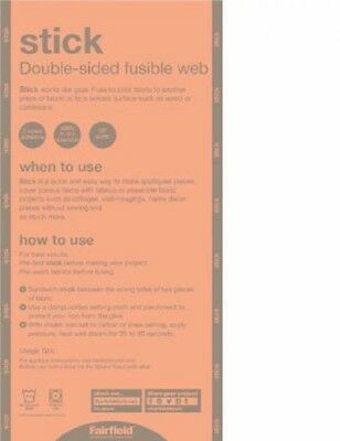 """2 Yards 'Stick' Double-Sided Fusible Web 20"""" Wide"""