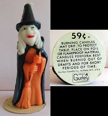 """Vintage Gurley 5.5"""" Witch Halloween Candle"""