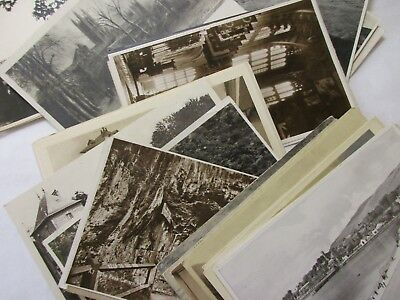 small  job lot of old black and white postcards