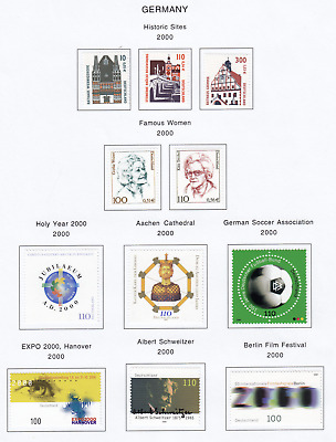 GERMANY 2000 Album Page Lot From Collection item G5