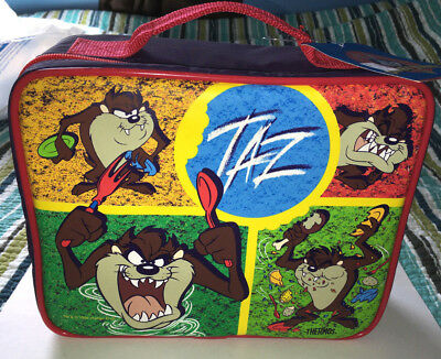 Looney Tunes Tasmanian Devil TAZ Lunch Box Lunchbox with Thermos 1999 - NEW