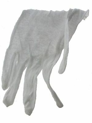 Large White Cotton Glove for Handling Coins, Lightweight, 12 pairs