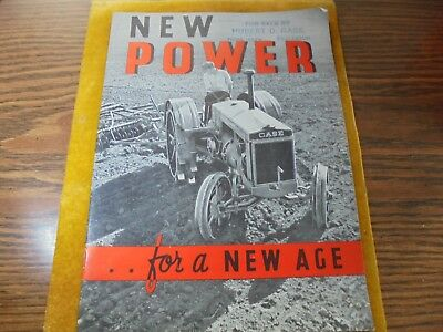 Vintage 1930's Case Tractor Advertising Brochure-Clean-Graphic-Farm Advertising
