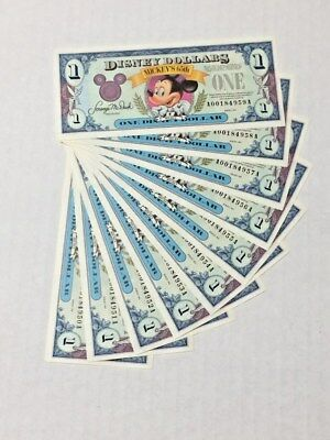 Disney Dollar Mickey Mouse 1991 series A 10 consecutive 950A to 959A crisp mint