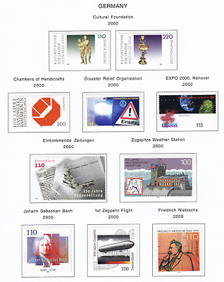GERMANY 2000 Album Page Lot From Collection item G8