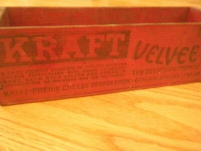 ~*~*~ Vintage Kraft Velveeta Wooden Cheese Box ~*~*~