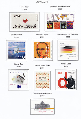 GERMANY 2000 Album Page Lot From Collection item G10
