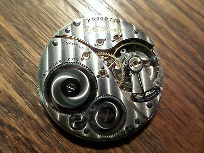 Elgin GM Wheeler 12s 17 j movement clean, comes with an extra one!