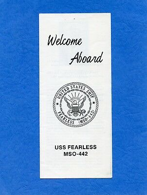 USS Fearless MSO 442 Welcome Aboard Navy Ceremony Program #2