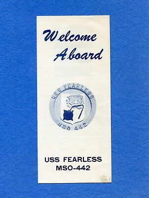 USS Fearless MSO 442 Welcome Aboard Navy Ceremony Program #3