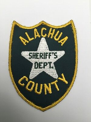 Alachua County Sheriffs Dept, Florida old cheesecloth shoulder patch