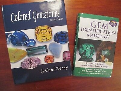 Colored Gemstones and GEM Identification Made Easy books