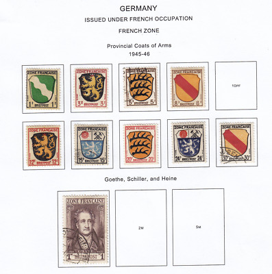 GERMANY 1945-1946 Issued Under French Occupation From Collection Lot #G11