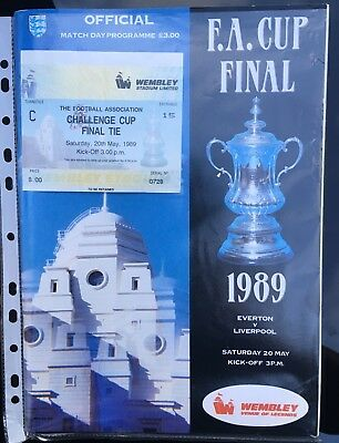 Liverpool V Everton Football Ticket Stub and Programme FA Cup Final 20/5/89