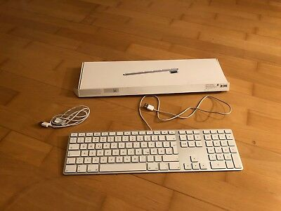 Apple MB110D/B Keyboard deutsches Layout - Tastatur mit Ziffernblock QWERTZ USB