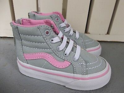 4afa5e34b94c14 VANS NEW SK8-HI Zip Canvas Vault Toddler Size USA 5 -  19.99