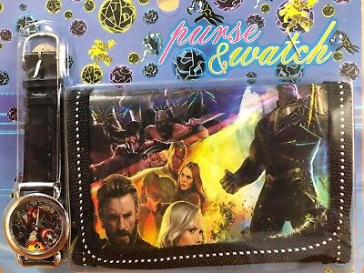 "Kids Watch Wallet Set ""marvelavengers""  Boy/girl Aussie Sales Children"