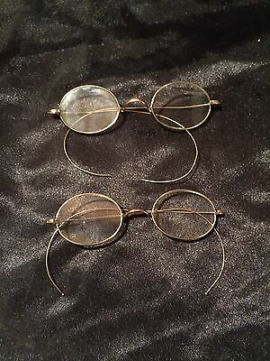 Lot of 2(two) Antique Vintage Eye Glasses with Makers Mark ? on back of Bridge
