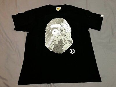 13e7441d A Bathing Ape x Dragon Ball Z Bape Ape Head 12 Tee T Shirt Black Large