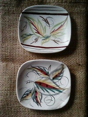 Pair of Vintage Glyn Colledge Glyn Ware Bourne Denby Pin Trays Bon Bon Dishes