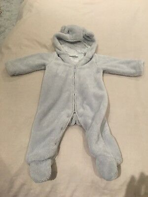 boys white company grey all in one coat 6-9 months