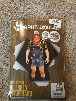 NEW HALLOWEEN Morphfauxreal Costume Hillbilly Redneck Pequenaud Morphsuit Medium
