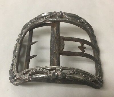 Antique Beautiful, LARGE mid-late 18th Century Shoe Buckle Silver Steel