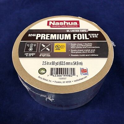 """3M 3340 2-1//2/"""" x 150/' HVAC Foil Tape UL181A-P Recall Approved Free Shipping"""