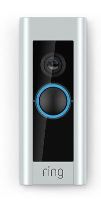 Ring Video Doorbell Pro ( WiFi 1080P HD Camera with Night Vision ) Satin Nickel